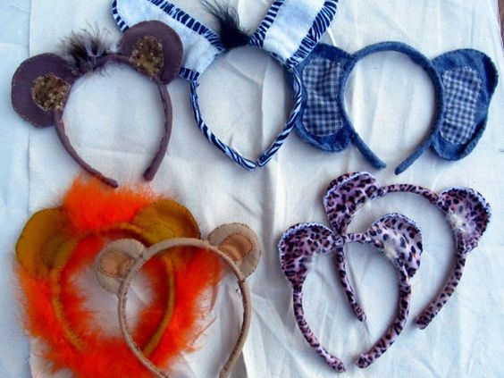 diy zoo animal dress up for classroom | Zoo Animal headband ears