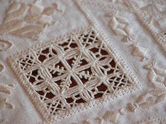 Hardander drawn thread whitework sampler she has
