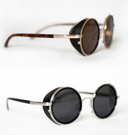 Vintage Retro Punk Rock Metal Round Sunglasses For Men And