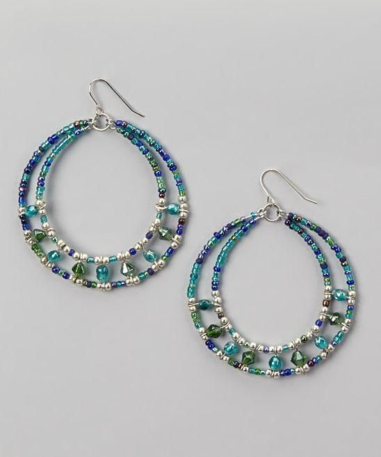 Beaded hoop earrings. Craft ideas from LC.Pandahall.com: