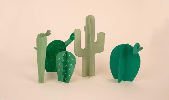Aujourd'hui, on fabrique des cactus ! Le cactus, c'est un peu le nouveau sapin !!