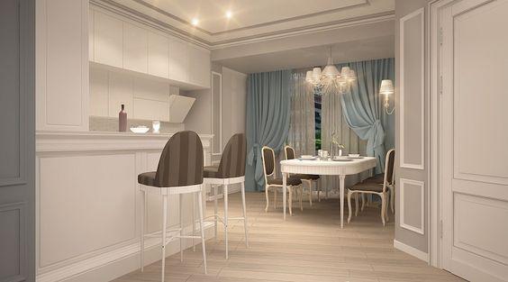 mobilierul baron de la formmat ofera eleganta acestei bucatarii open space.