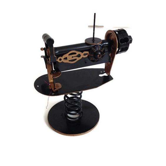 Vintage Sewing Machine Miniature Metal Toy by MerrilyVerilyVintage, $15.00