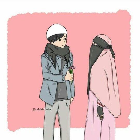 20 Foto Kartun Pasangan Muslim Kumpulan Gambar Kartun Muslimah Couple Bercadar Cara Baruq Download 232 Images Abou Di 2020 Kartun Ilustrasi Karakter Gambar Kartun