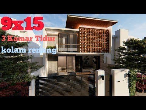 desain rumah 2 lantai luas tanah 135 m2