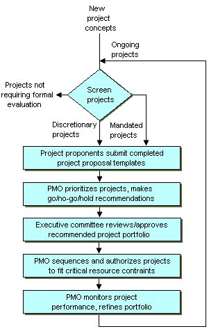 Typical project selection process.