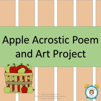 Apple Acrostic Poem and Art ProjectEvery month, I try to do a fun writing…
