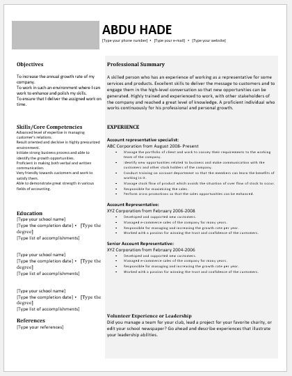 Account Manager Resume DOWNLOAD at http\/\/writeresume2org\/account - resume microsoft