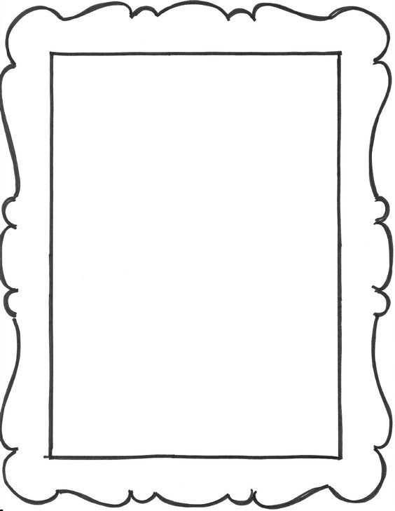 add a few frame outlines to the art notebook party favors