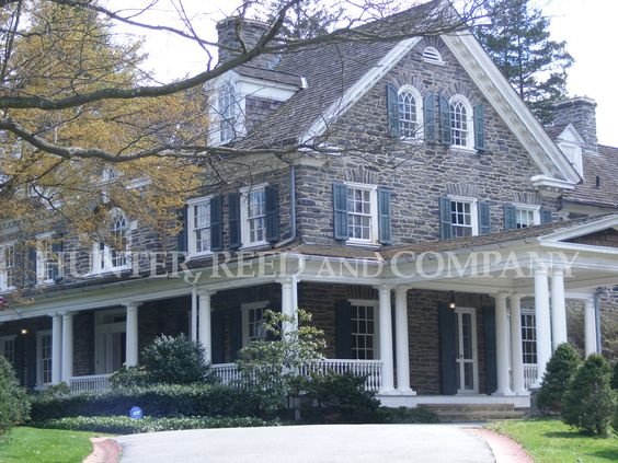 Beautiful Historic Manor with Acreage. Includes Greenhouse, Stables, and Chauffeur's House. Philadelphia Suburbs.  www.HunterReed.com