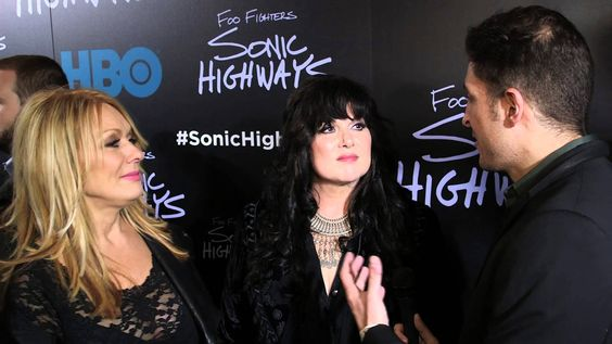 """Ann and Nancy Wilson of """"Heart"""" chat with #InTheLab host Arthur Kade at HBO's """"Sonic Highway"""" premiere where they discussed participating in the Seattle segment of the Foo Fighters' documentary."""