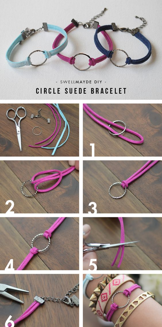 i am planning on doing this with a miniature snaffle horse bit :D - swellmayde: DIY | CIRCLE SUEDE BRACELETS WITH WWDMAGIC