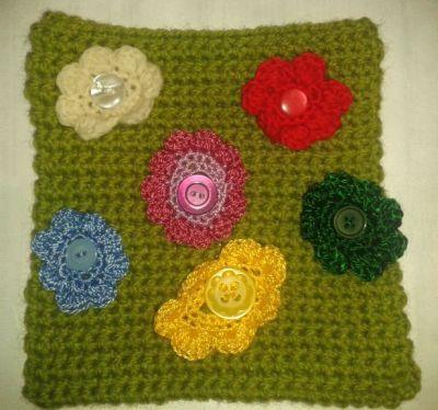 Crochet Quiet Book : crochet quiet book page - flowers/ match colours quiet book ideas ...