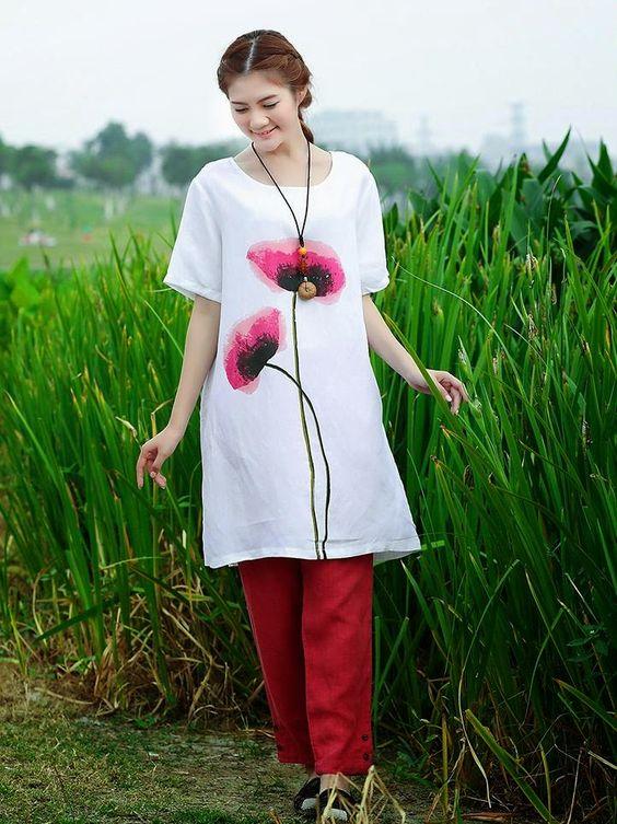 Goddess loose big yards casual female cotton dress define aesthetically pleasing face | Japanese street fashion japanese fashion magazine japan store korean style chinese fashion trendy