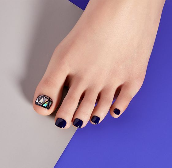 Impress Press On Pedicure Mai Tai Pedicure Manicure And Pedicure Toe Nail Designs