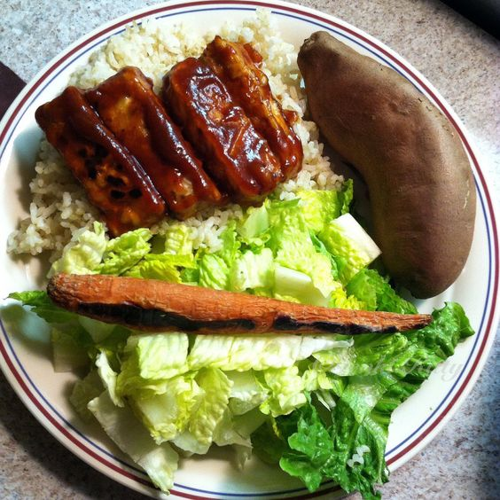 Free vegan dinner recipe tempeh bbq