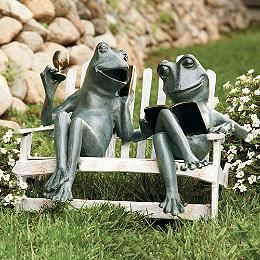 Frog Garden Statue Frog Garden Statue Home Fishing Mama Baby on Sich