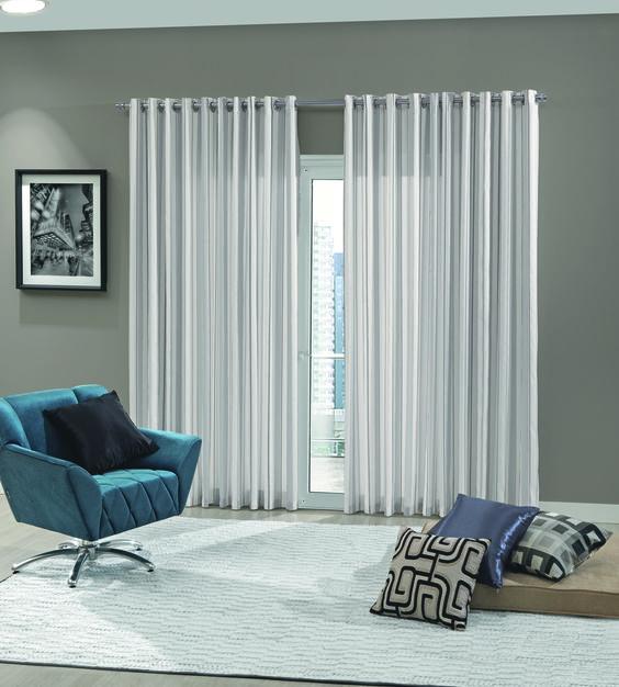 Que tal decorar sua sala com lindas cortinas prontas? vá até a ...
