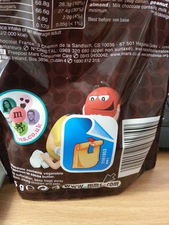 It's really: just two M&M characters.