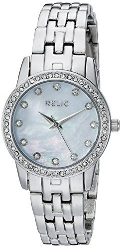 Relic Women's ZR12168 Analog Display Analog Quartz Silver Watch. Case size: 27 mm. Band width: 11.7 mm. Analog-quartz Movement. Case Diameter: 27mm. Water Resistant To 99 Feet.