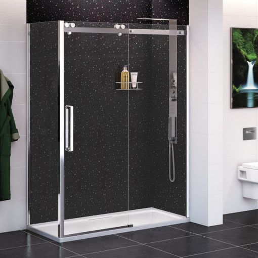 Black Quartz Wall Panel 2400 X 1000 X 10mm Wall Paneling Shower Panels Amazing Bathrooms