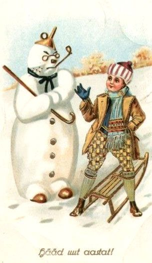 .Vintage postcards New Year and Christmas: