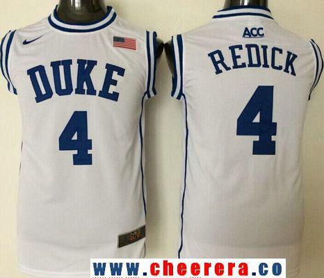 Swingman Jersey Mens Duke Blue Devils 4 JJ Redick White Round Collar College  ... 3d00b996d