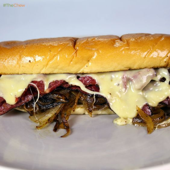 jays chefs pastrami sandwich the chew michael symon meat sandwiches ...