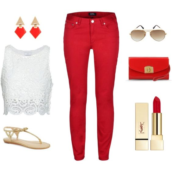"""Canada Day Outfit #2"" by leopardcouture8 on Polyvore:"