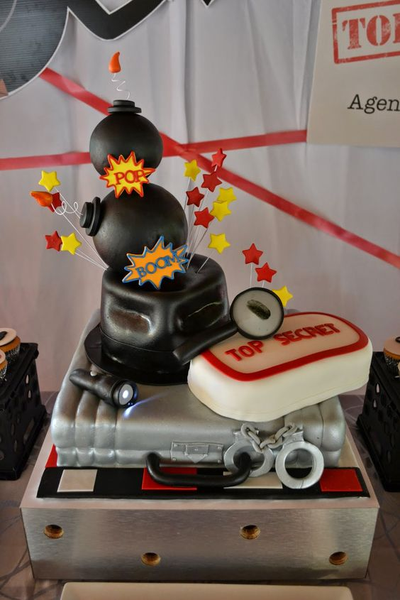 Secret Agent party by Partylicious #spy #boybirthday