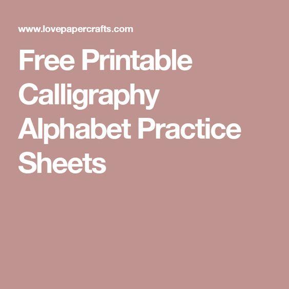 Calligraphy practice alphabet and
