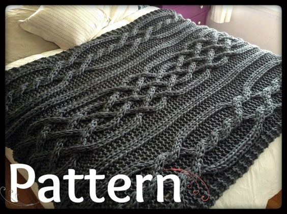 Knit blanket patterns, Cable knit blankets and Knit blankets on Pinterest