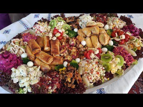 سلطة متنوعة مختلفة مشكلة من 11 نوع سلطة و مقبلة سلطة استوائية بالدجاج سلطة فواكه البحر سلطات أخرى Youtube Salad Food Cobb Salad