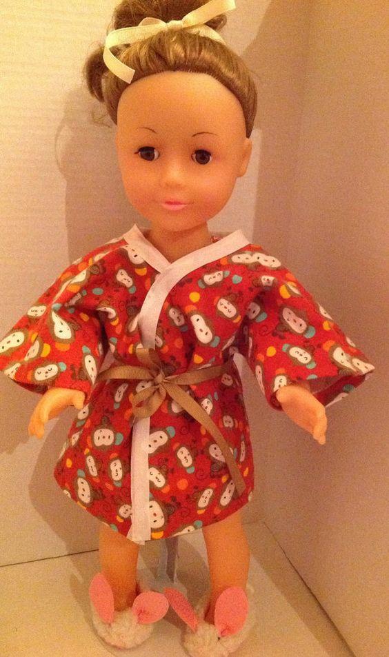 American Girl 18 doll robe by SweetAnnaJean on Etsy, $4.50