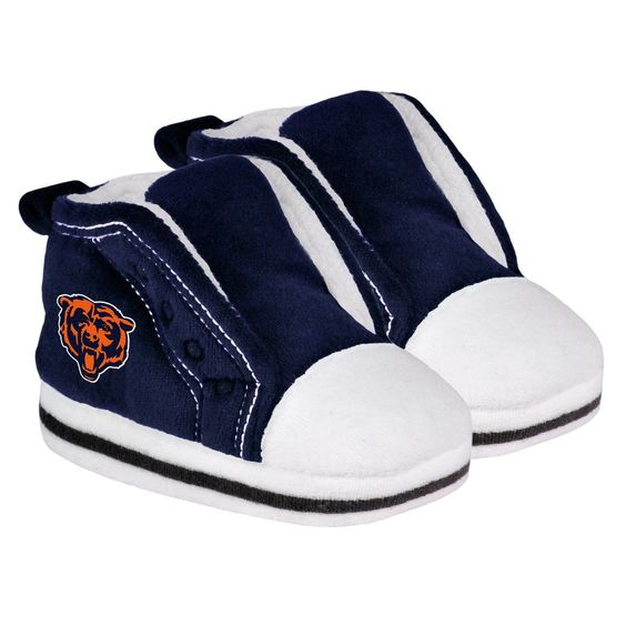 Chicago Bears Logo High Top Baby Slippers