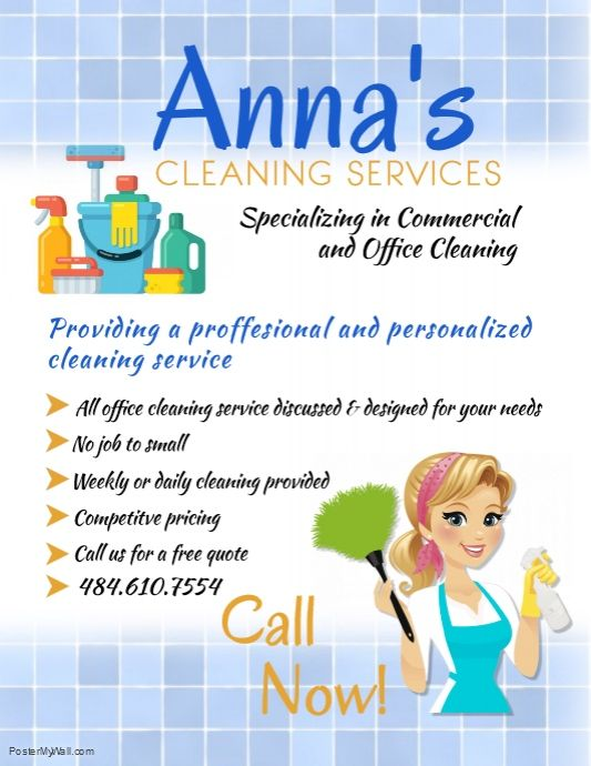 Template Free Printable House Cleaning Flyers