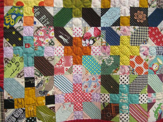 Japanese X and + scrappy quilt tutorial: