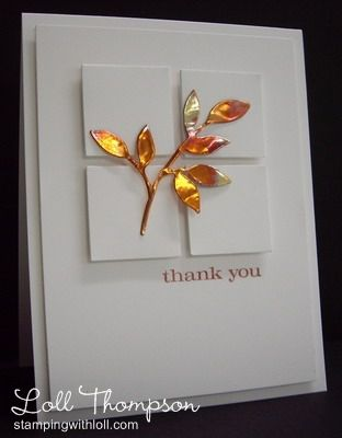 Copper Leaves (Sizzix Little Leaves & 36-gauge copper sheet, heat leaves with butane torch until color changed)