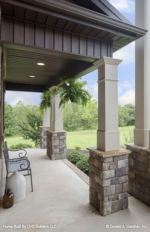 Kind Hired Porch And Deck Helpful Resources House With Porch House Exterior Stone Columns