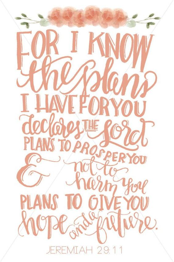 For I know the plans I have for you..... Jeremiah 29:11 #scripture #faith #plans #jeremiah #hope