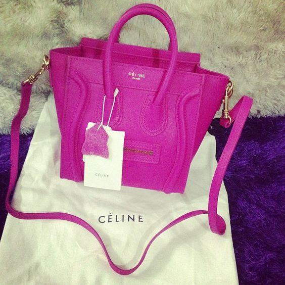celine mini luggage tote black - www.shemall.net Celine nano hot pink. | style | Pinterest | Celine ...