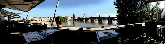 Panorama taken on iPhone and posterised in ToonPaint.