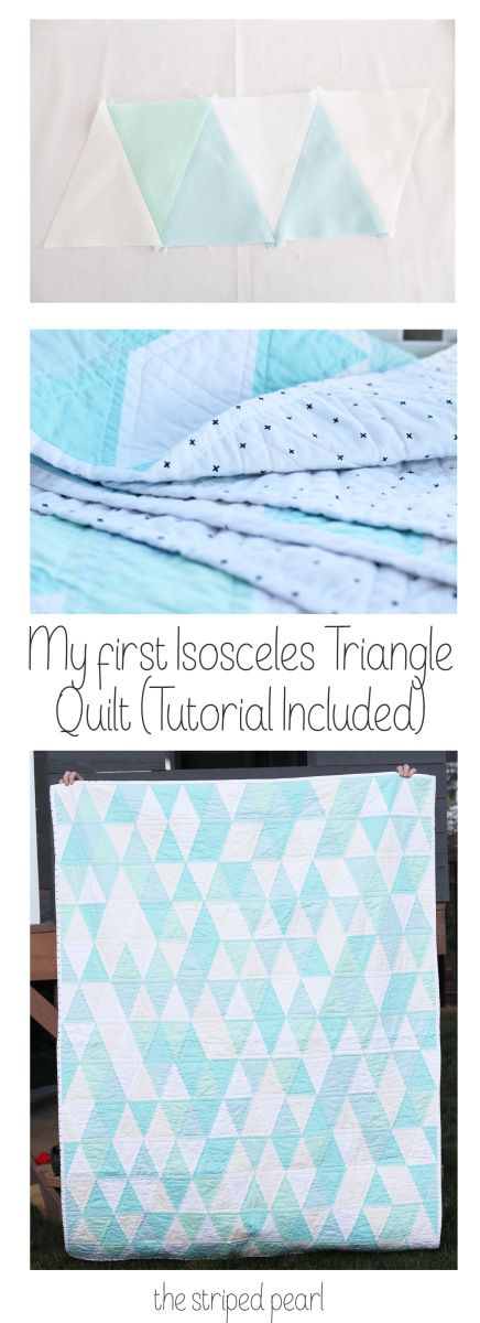 My first Isosceles Triangle Quilt (Tutorial included)