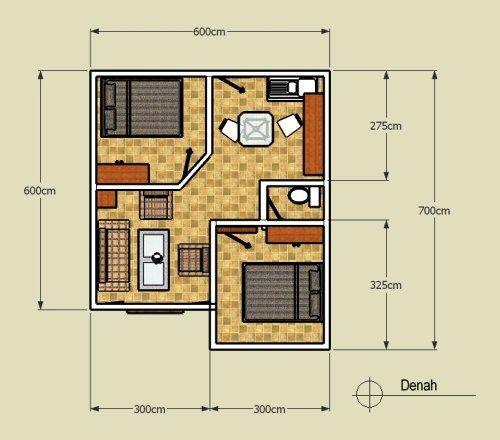 Design Interior Rumah Minimalis Type 38  gambar denah rumah minimalis type 36 terbaik denah rumah