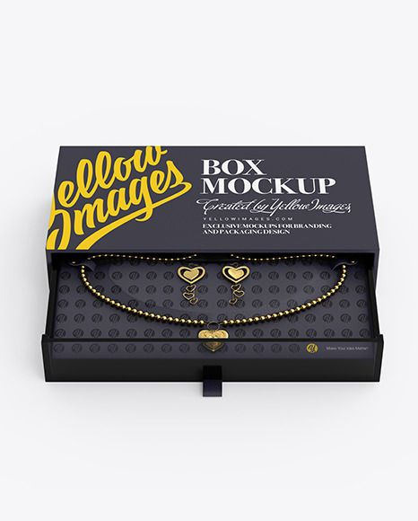 Download Jewelry Box Mockup In Box Mockups On Yellow Images Object Mockups In 2021 Box Mockup Mockup Box