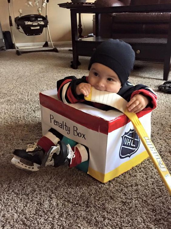 A new time-out spot or Halloween costume? #Blackhawks