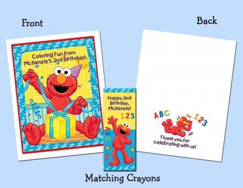 Elmo Personalized Coloring Book/Crayon Favor | PartiesRPersonal ...
