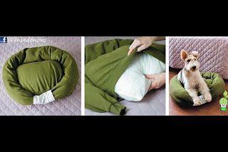 hundebett selbst machen du brauchst nur einen alten. Black Bedroom Furniture Sets. Home Design Ideas