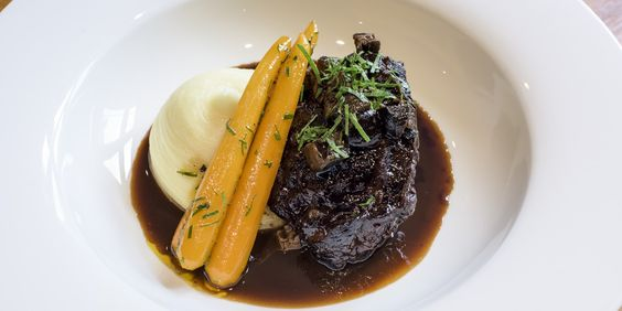 Cheek is often considered a tough cut, but in this glorious braised beef recipe by Adam Bennett the meat is cooked in red wine and Madeira until tender.
