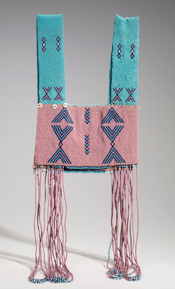 Africa | Vest from the Xhosa people of King Williams Town District, Ceskei region, South Africa | Bead, cord, cloth and shell buttons | ca. 2nd half of the 20th century